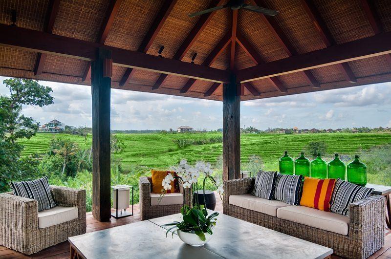 Ambalama Villa Outdoor Lounge with View, Seseh | 7 Bedroom Villas Bali