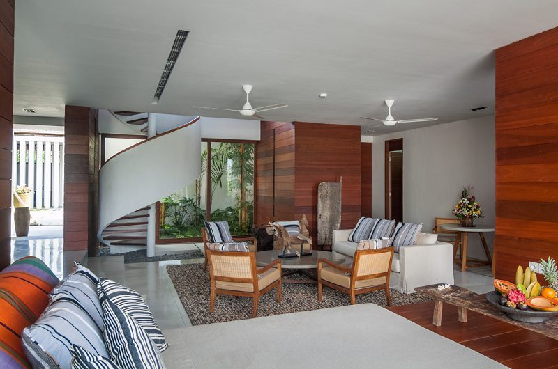 Ambalama Villa Living Area with Up Stairs, Seseh | 7 Bedroom Villas Bali