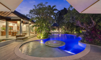 Lataliana Villas Swimming Pool at Night, Seminyak | 7 Bedroom Villas Bali