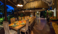 Taman Ahimsa Dining Area, Seseh | 7 Bedroom Villas Bali
