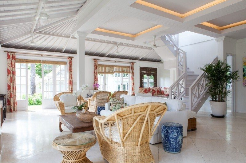 The Cotton House Living Area with Up Stairs, Seminyak | 7 Bedroom Villas Bali