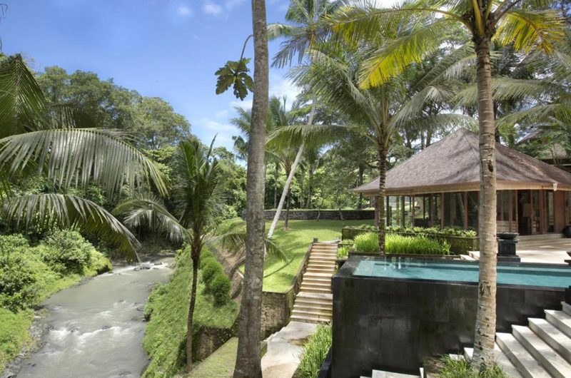 The Sanctuary Bali Outdoor Area with River View, Canggu | 7 Bedroom Villas Bali
