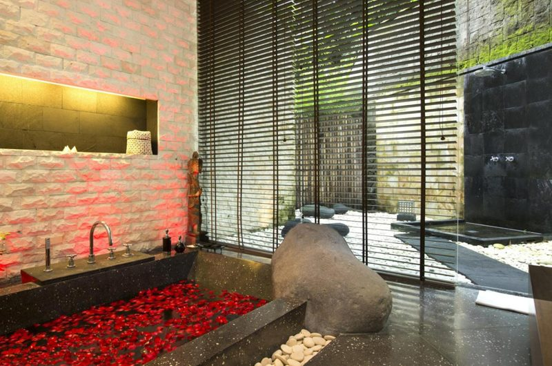 The Sanctuary Bali Bathtub with Rose Petals, Canggu | 7 Bedroom Villas Bali