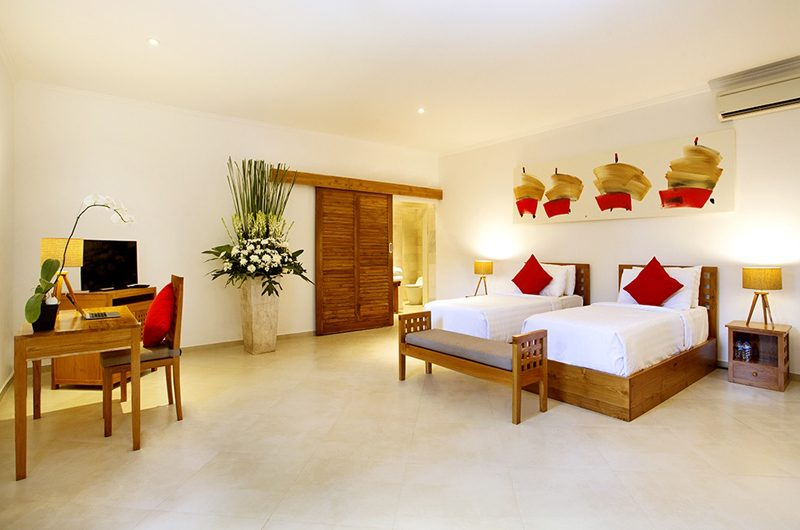 The Sanctuary Bali Twin Bedroom with TV, Canggu | 7 Bedroom Villas Bali