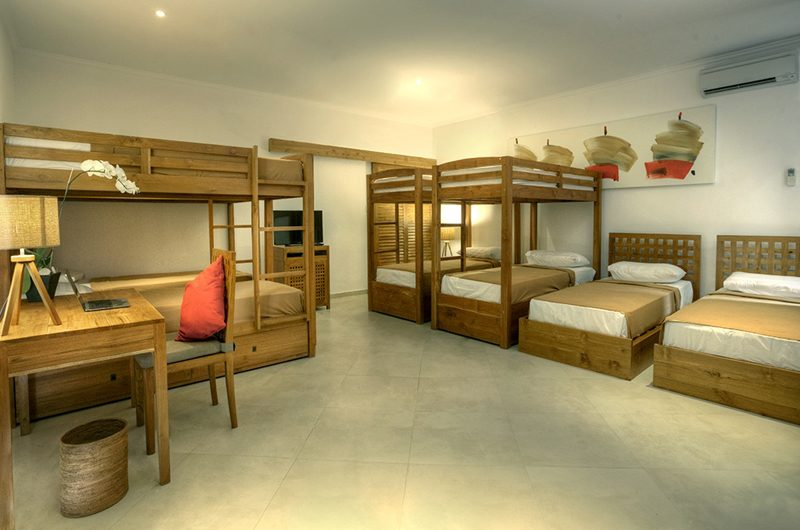 The Sanctuary Bali Bedroom with Bunk Beds, Canggu | 7 Bedroom Villas Bali