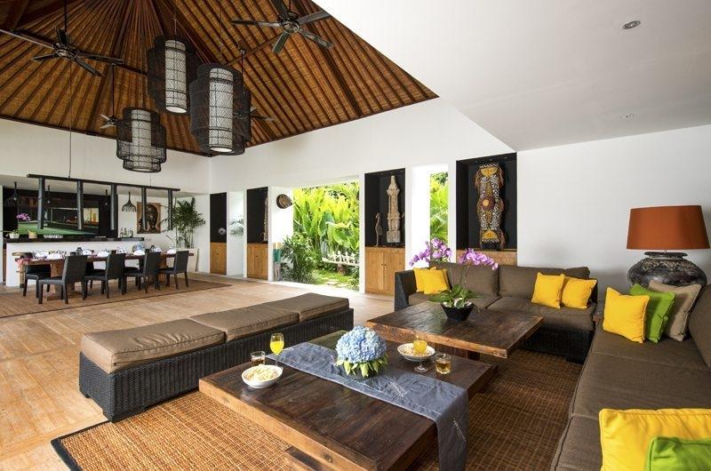 Villa Anam Living and Dining Area, Seminyak | 7 Bedroom Villas Bali