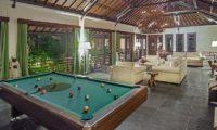 Villa Avalon Bali Living Area with Billiard Table, Canggu | 7 Bedroom Villas Bali
