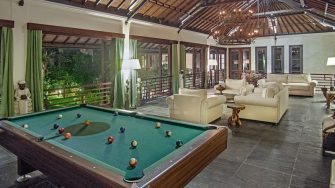 Villa Avalon Bali Living Area with Billiard Table, Canggu | 7 Bedroom Villas Bali