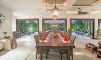 Villa Avalon Bali Dining Area with Pool View, Canggu | 7 Bedroom Villas Bali