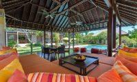 Bendega Villas Lounge Area with Pool View, Canggu | 7 Bedroom Villas Bali