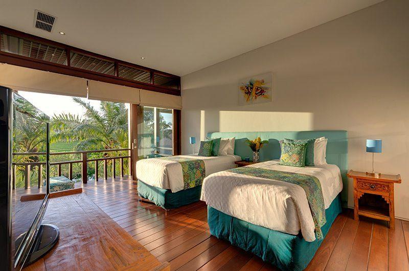 Bendega Villas Bedroom with Twin Beds, Canggu | 7 Bedroom Villas Bali