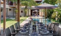 Bendega Villas Pool Side Dining, Canggu | 7 Bedroom Villas Bali