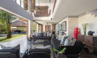 Bendega Villas Living Area with Garden View, Canggu | 7 Bedroom Villas Bali