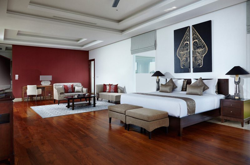 Villa Malaathina Bedroom with Wooden Floor, Umalas | 7 Bedroom Villas Bali