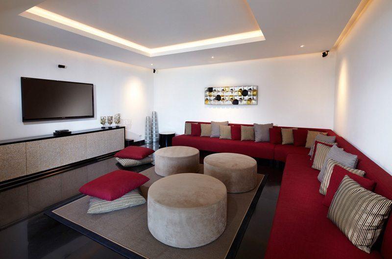 Villa Malaathina Lounge Area with TV, Umalas | 7 Bedroom Villas Bali