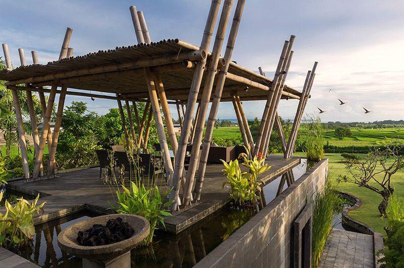 Villa Mandalay Outdoor Seating Area with View, Seseh   7 Bedroom Villas Bali