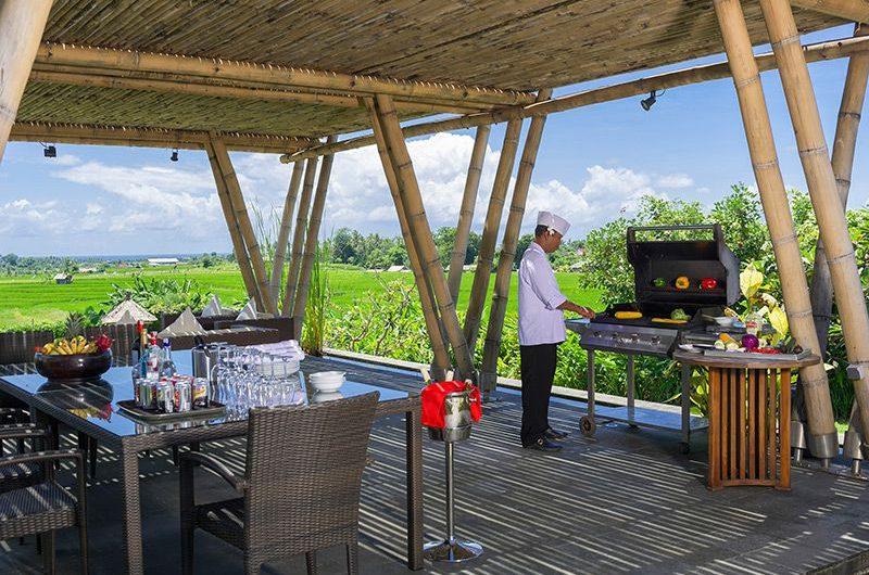 Villa Mandalay Outdoor Dining with Barbecue, Seseh   7 Bedroom Villas Bali