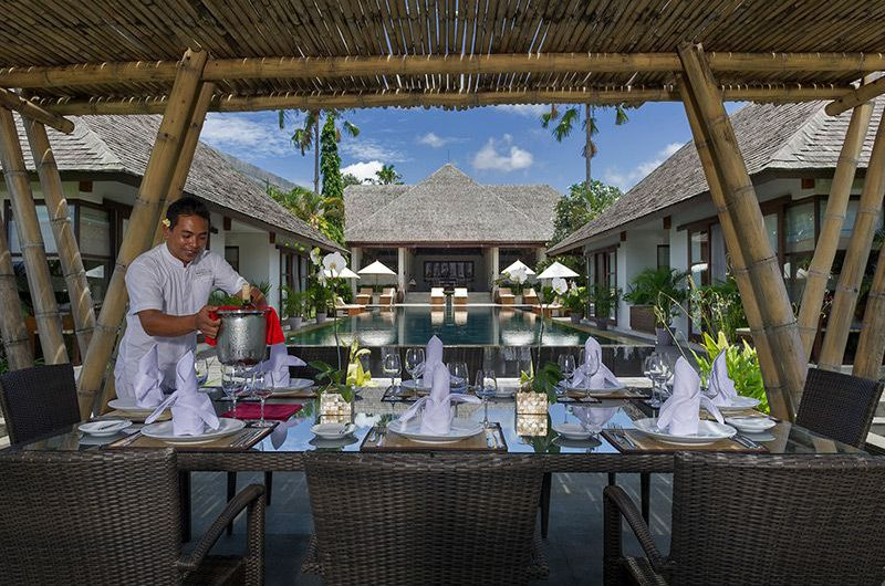 Villa Mandalay Pool Side Dining, Seseh   7 Bedroom Villas Bali