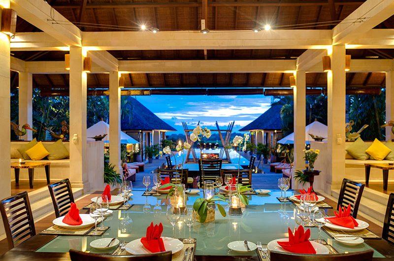 Villa Mandalay Dining at Night, Seseh   7 Bedroom Villas Bali