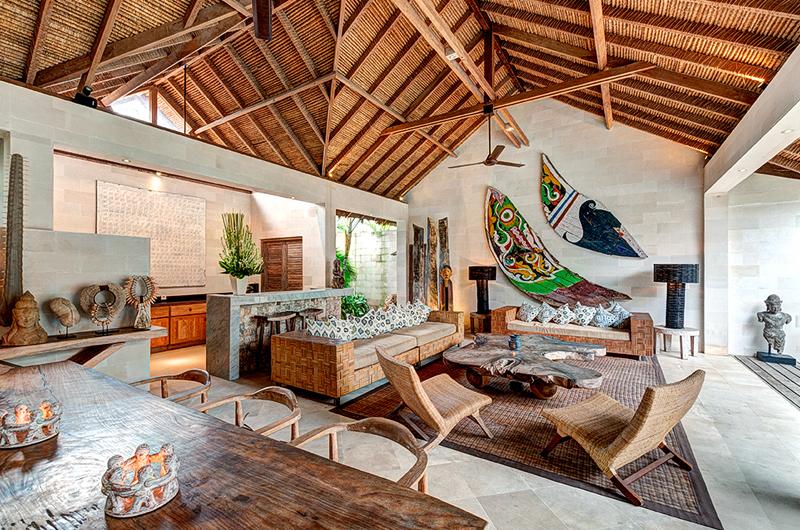 Villa Massilia Living and Dining Area, Seminyak | 7 Bedroom Villas Bali