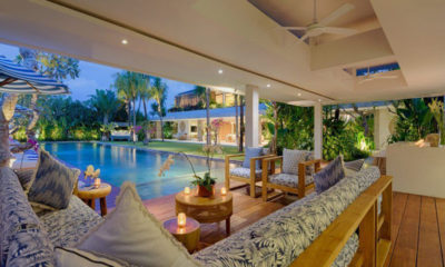 Villa Zambala Pool Side Seating Area, Canggu | 7 Bedroom Villas Bali