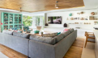 Villa Zambala Lounge Area with TV, Canggu | 7 Bedroom Villas Bali